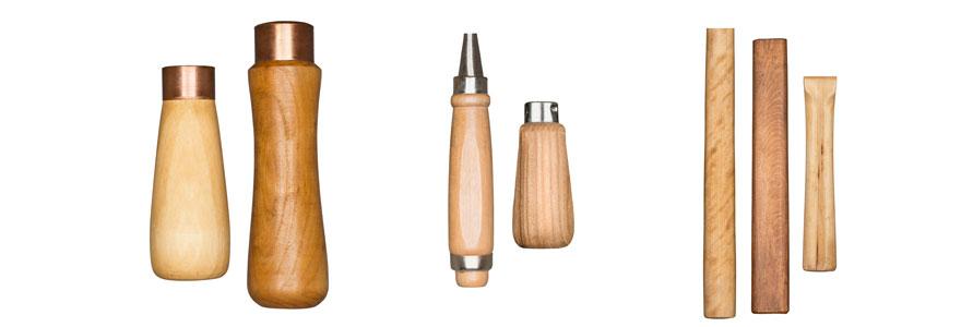 manches d'outils en bois